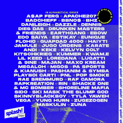 Line up splash! Festivalu 2020