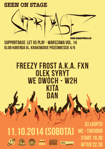 Supportbase: Let Us Play - Warszawa vol.14