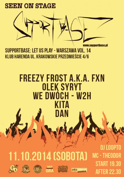 Supportbase: Let Us Play - Warszawa vol.14